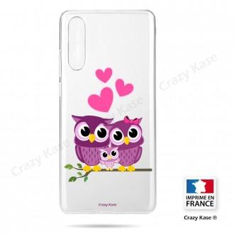 Coque compatible Galaxy A50 souple Famille Chouette - Crazy Kase