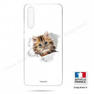 Coque compatible Galaxy A50 souple Chat trop mignon - Crazy Kase