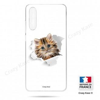 Coque compatible Galaxy A50 souple Chat trop mignon - Crazy Kase