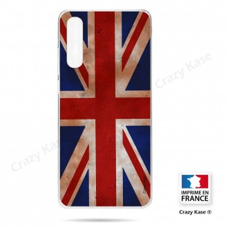Coque compatible Galaxy A50 souple Drapeau UK vintage - Crazy Kase