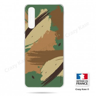 Coque compatible Galaxy A50 souple Camouflage - Crazy Kase