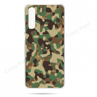 Coque compatible Galaxy A50 souple Camouflage militaire - Crazy Kase