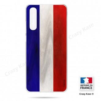 Coque compatible Galaxy A50 souple Drapeau Français Vintage- Crazy Kase