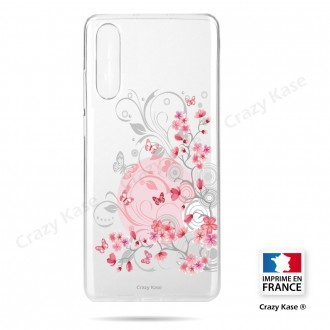 Coque compatible Galaxy A50 souple Fleurs et papillons -  Crazy Kase