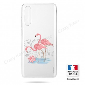 Coque compatible Galaxy A50 souple Flamant rose - Crazy Kase