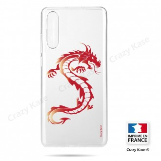 Coque compatible Galaxy A50 souple Dragon rouge - Crazy Kase