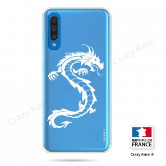 Coque compatible Galaxy A50 souple Dragon Blanc - Crazy Kase
