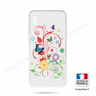 Coque compatible Galaxy A10 souple Papillons et Cercles - Crazy Kase