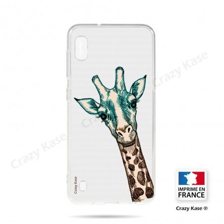 Coque compatible Galaxy A10 souple Tête de Girafe - Crazy Kase