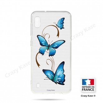 Coque compatible Galaxy A10 souple Papillon sur Arabesque - Crazy Kase