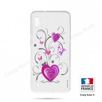 Coque compatible Galaxy A10 souple Cœur et papillon - Crazy Kase