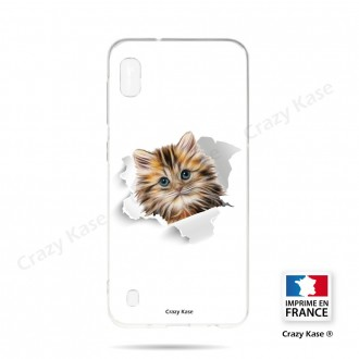 Coque compatible Galaxy A10 souple Chat trop mignon - Crazy Kase