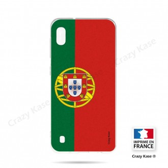 Coque compatible Galaxy A10 souple Drapeau Portugais - Crazy Kase