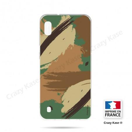 Coque compatible Galaxy A10 souple Camouflage - Crazy Kase