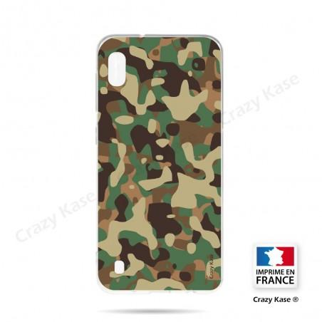 Coque compatible Galaxy A10 souple Camouflage militaire - Crazy Kase