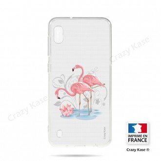 Coque compatible Galaxy A10 souple Flamant rose - Crazy Kase