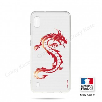 Coque compatible Galaxy A10 souple Dragon rouge - Crazy Kase