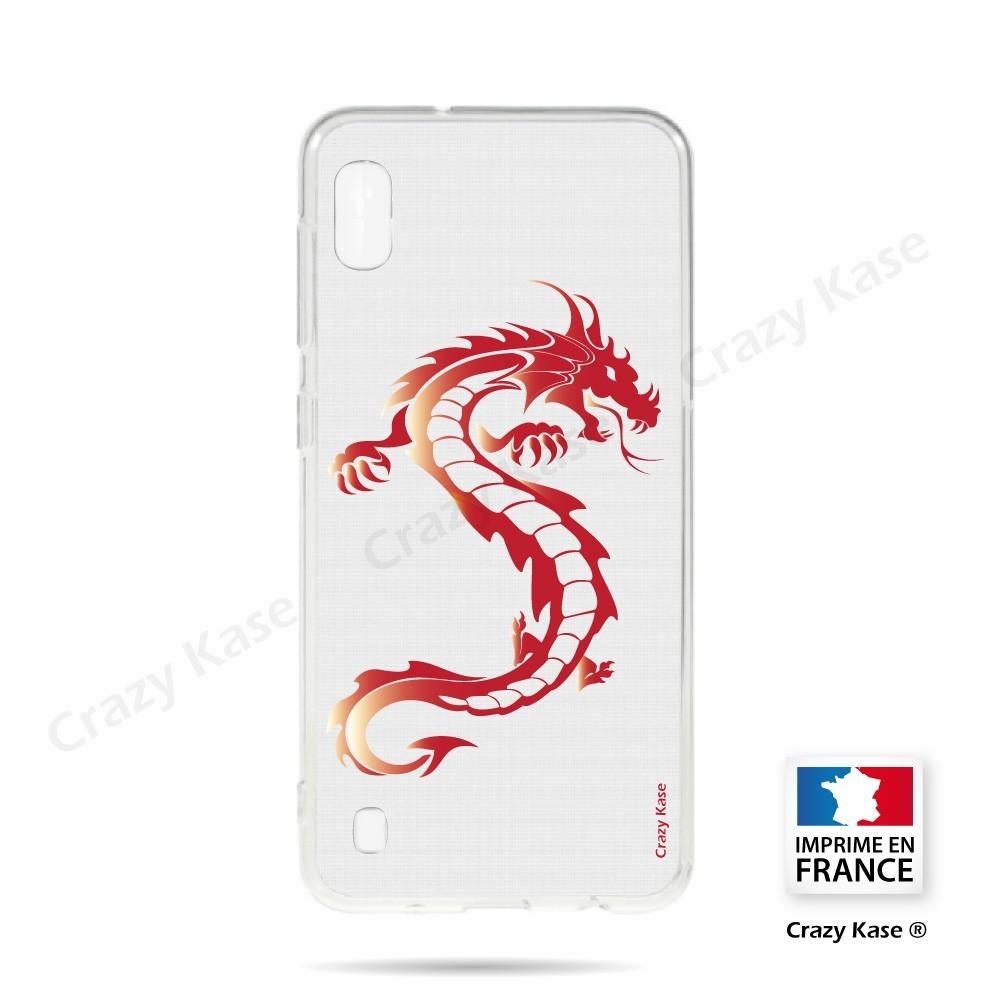 Coque compatible Galaxy A10 souple Dragon rouge - Crazy Kase