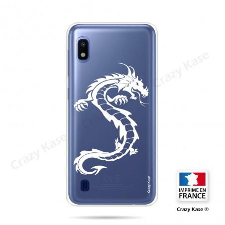 Coque compatible Galaxy A10 souple Dragon Blanc - Crazy Kase