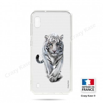 Coque compatible Galaxy A10 souple Tigre blanc - Crazy Kase