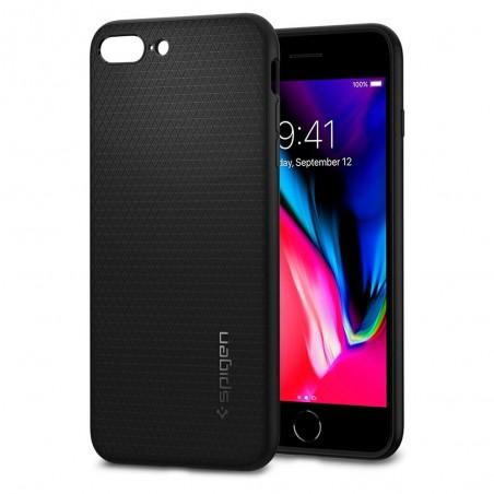 Coque compatible iPhone 8 plus / 7 plus Liquid Air noir mat - Spigen