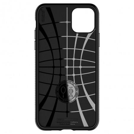 Coque compatible iPhone 11 Pro Max Liquid Air noir mat - Spigen