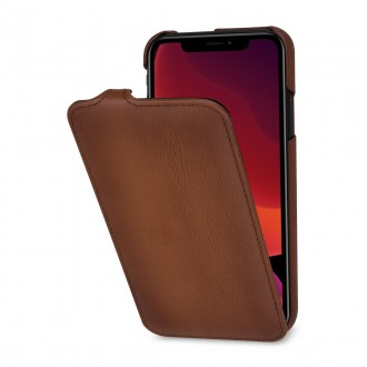 Etui iPhone 11 UltraSlim en cuir véritable cognac - StilGut