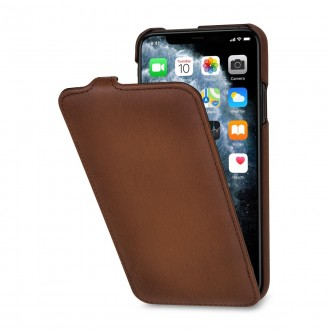 Etui iPhone 11 Pro Max Ultra Slim en cuir véritable marron - StilGut