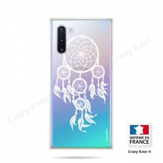 Coque compatible Galaxy Note 10 souple Attrape Rêves Blanc - Crazy Kase