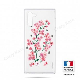 Coque compatible Galaxy Note 10 souple Fleurs de Sakura - Crazy Kase