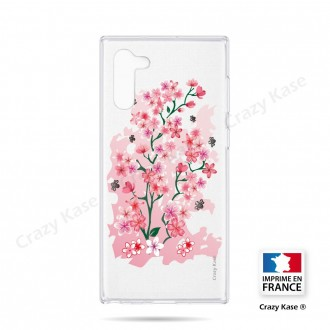 Coque compatible Galaxy Note 10 souple Fleurs de Cerisier - Crazy Kase