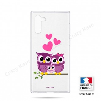 Coque compatible Galaxy Note 10 souple Famille Chouette - Crazy Kase
