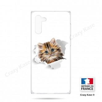 Coque compatible Galaxy Note 10 souple Chat trop mignon - Crazy Kase