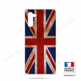 Coque compatible Galaxy Note 10 souple Drapeau UK vintage - Crazy Kase
