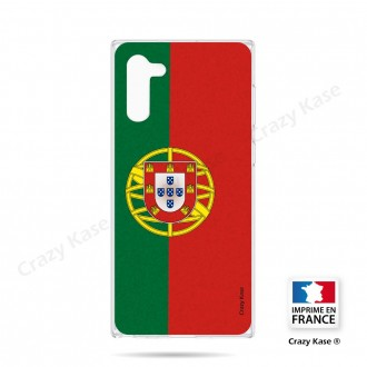 Coque compatible Galaxy Note 10 souple Drapeau Portugais - Crazy Kase