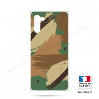 Coque compatible Galaxy Note 10 souple Camouflage - Crazy Kase
