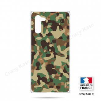 Coque compatible Galaxy Note 10 souple Camouflage militaire - Crazy Kase