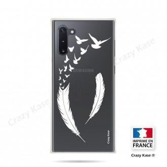 Coque compatible Galaxy Note 10 souple Plume et envol d'oiseaux - Crazy Kase