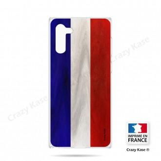 Coque compatible Galaxy Note 10 souple Drapeau Français Vintage- Crazy Kase