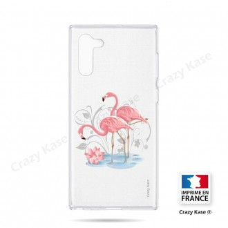 Coque compatible Galaxy Note 10 souple Flamant rose - Crazy Kase