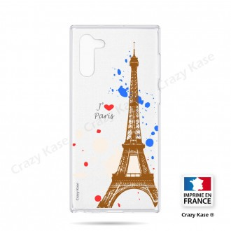 Coque compatible Galaxy Note 10 souple Paris - Crazy Kase