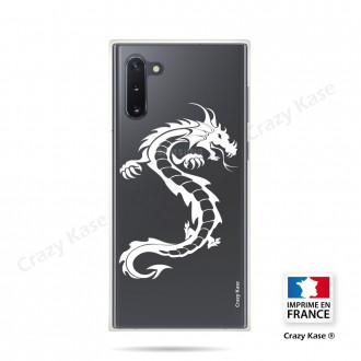Coque compatible Galaxy Note 10 souple Dragon Blanc - Crazy Kase