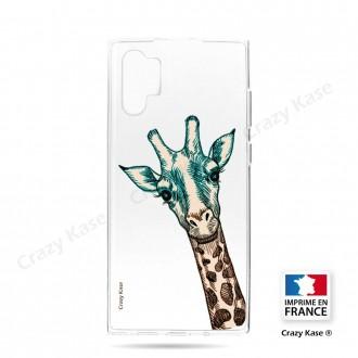 Coque compatible Galaxy Note 10 Plus souple Tête de Girafe - Crazy Kase