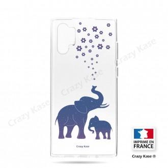 Coque compatible Galaxy Note 10 Plus souple Eléphant Bleu - Crazy Kase