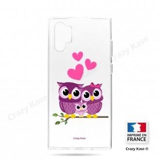 Coque compatible Galaxy Note 10 Plus souple Famille Chouette - Crazy Kase