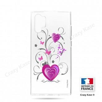 Coque compatible Galaxy Note 10 Plus souple Coeur et papillon - Crazy Kase