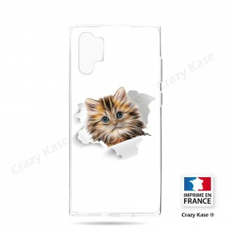 Coque compatible Galaxy Note 10 Plus souple Chat trop mignon - Crazy Kase