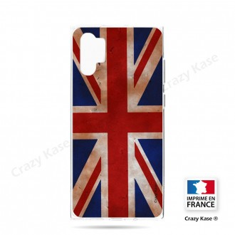 Coque compatible Galaxy Note 10 Plus souple Drapeau UK vintage - Crazy Kase