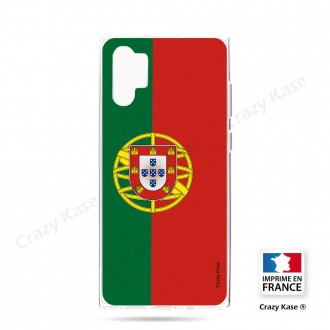 Coque compatible Galaxy Note 10 Plus souple Drapeau Portugais - Crazy Kase