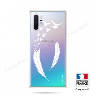 Coque compatible Galaxy Note 10 Plus souple Plume et envol d'oiseaux - Crazy Kase